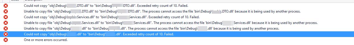 Build error: